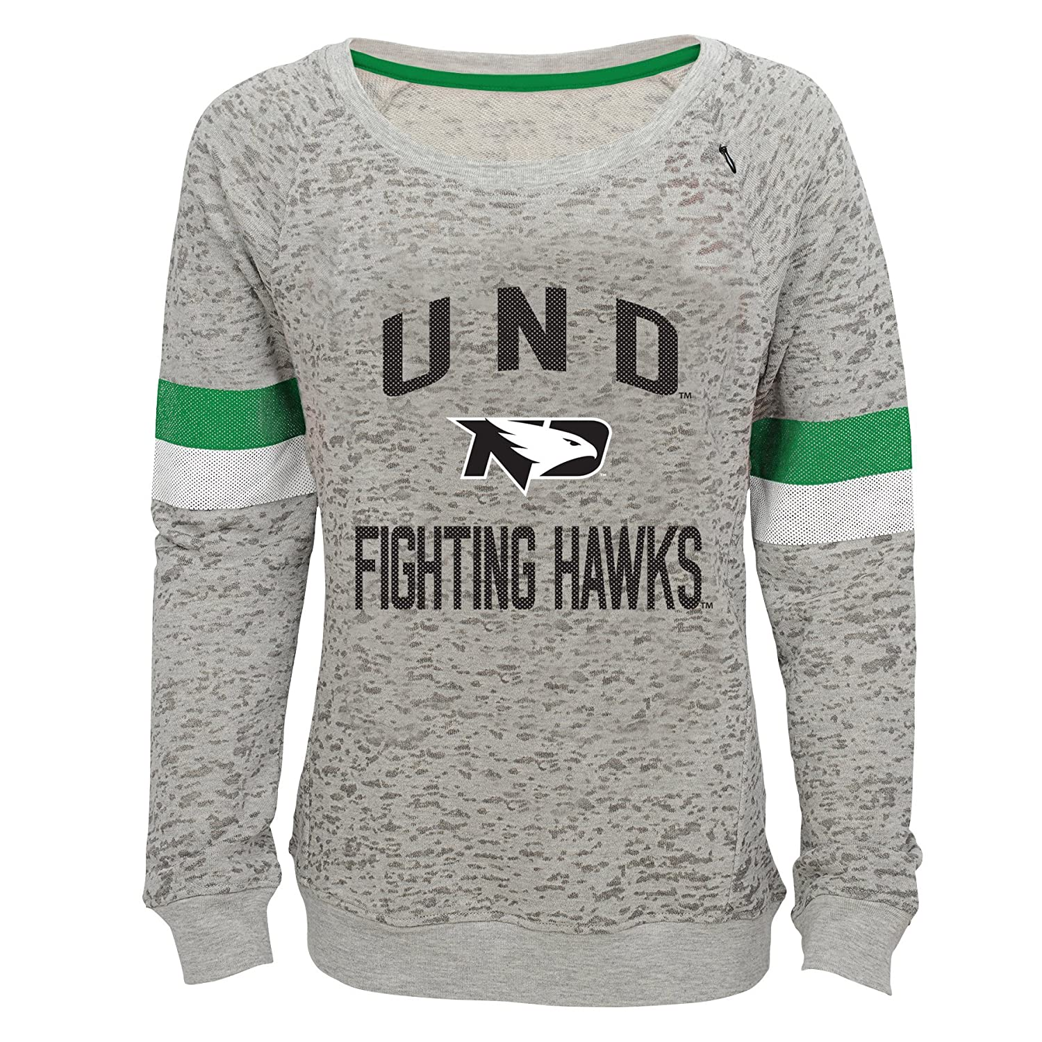 Youth X-Large NCAA by Outerstuff NCAA North Dakota Youth Girls My City Boat Neck Pullover Heather Grey 16