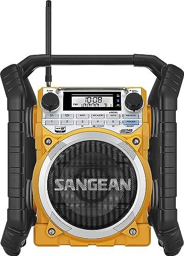 Sangean U4 AM/FM-RBDS,Weather Alert,Bluetooth, Aux-in Ultra Rugged Rechargeable Digital Tuning Radio