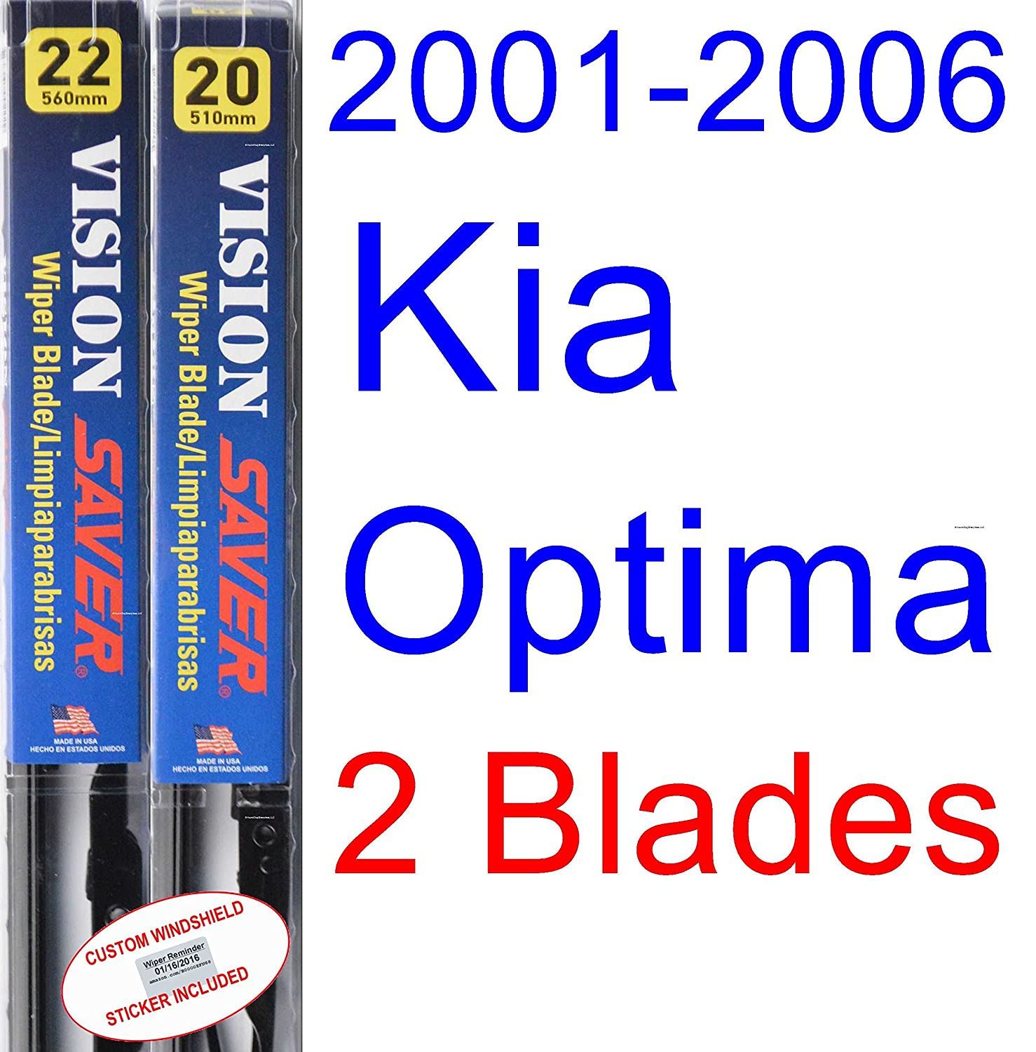 Amazon.com: 2001-2006 Kia Optima Replacement Wiper Blade Set/Kit ...
