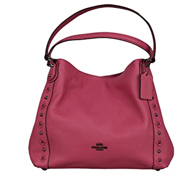 b5f3313709ff Coach EDIE SHOULDER BAG 31 IN FLORAL RIVETS LEATHER (leather)  Handbags   Amazon.com