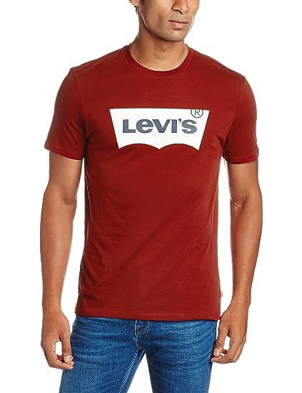 19659e70e Levi's Men's Regular Fit T-Shirt (16960-0124_Small_Red)