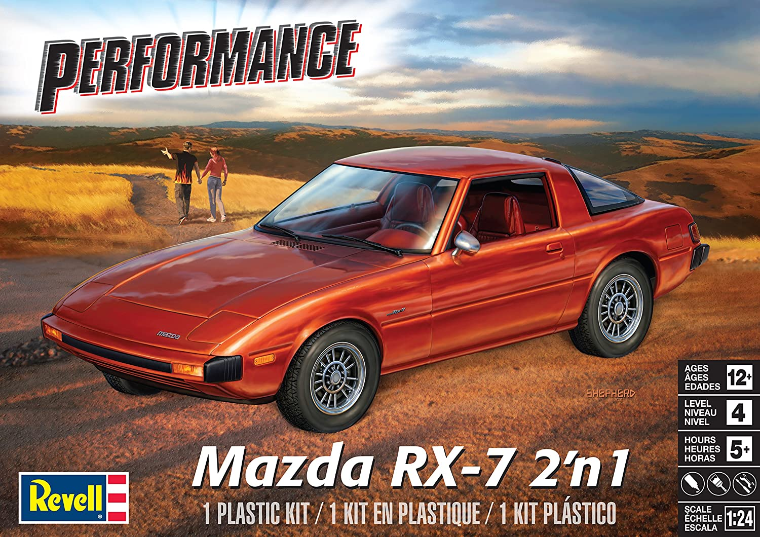 Revell Mazda RX-7 2'n1 Plastic Model Kit