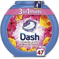 Dash 3 en 1 Pods Coquelicot Lessive en Capsules 47 Lavages - Lot de 3