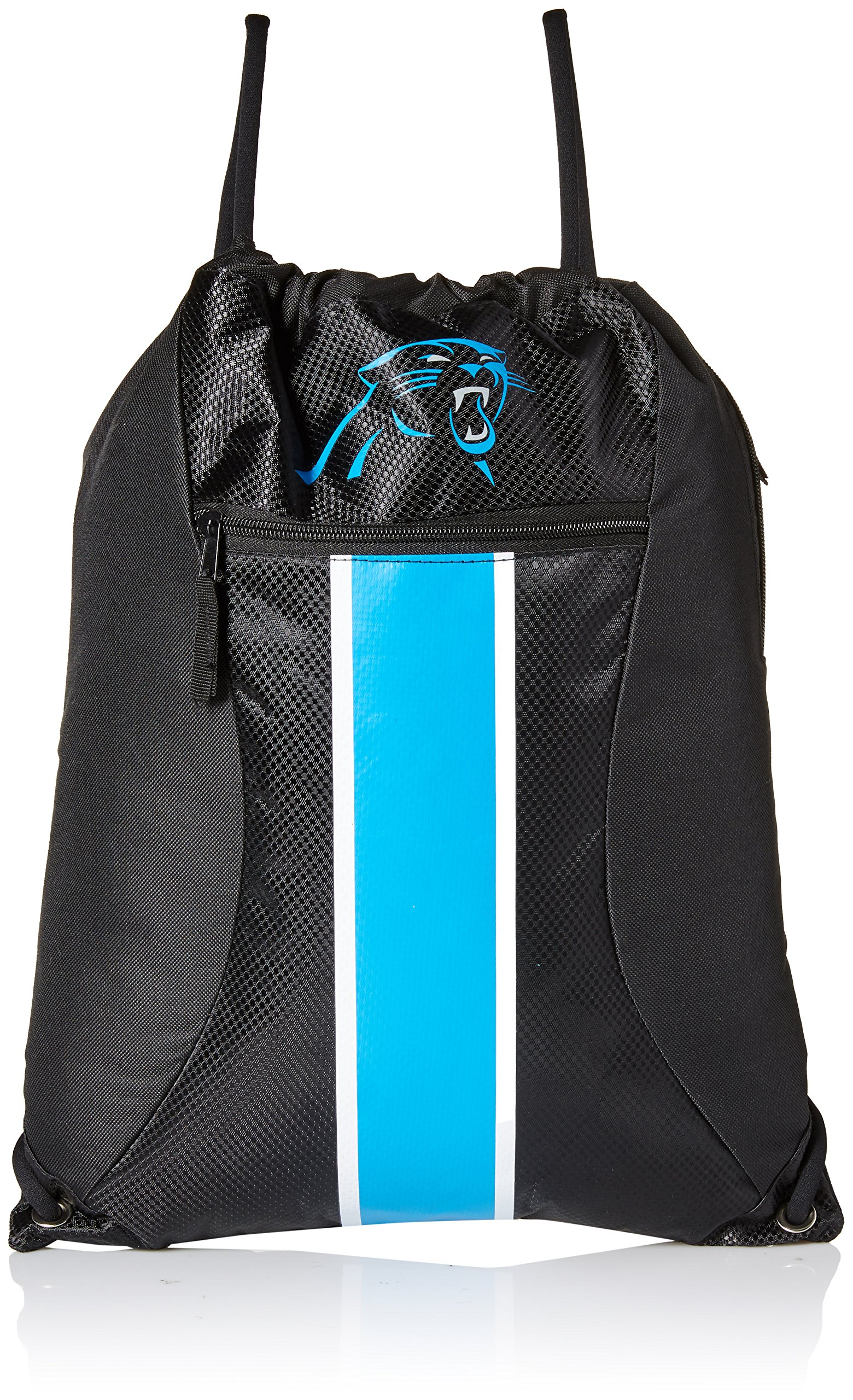 Carolina Panthers Big Stripe Zipper Drawstring Backpack