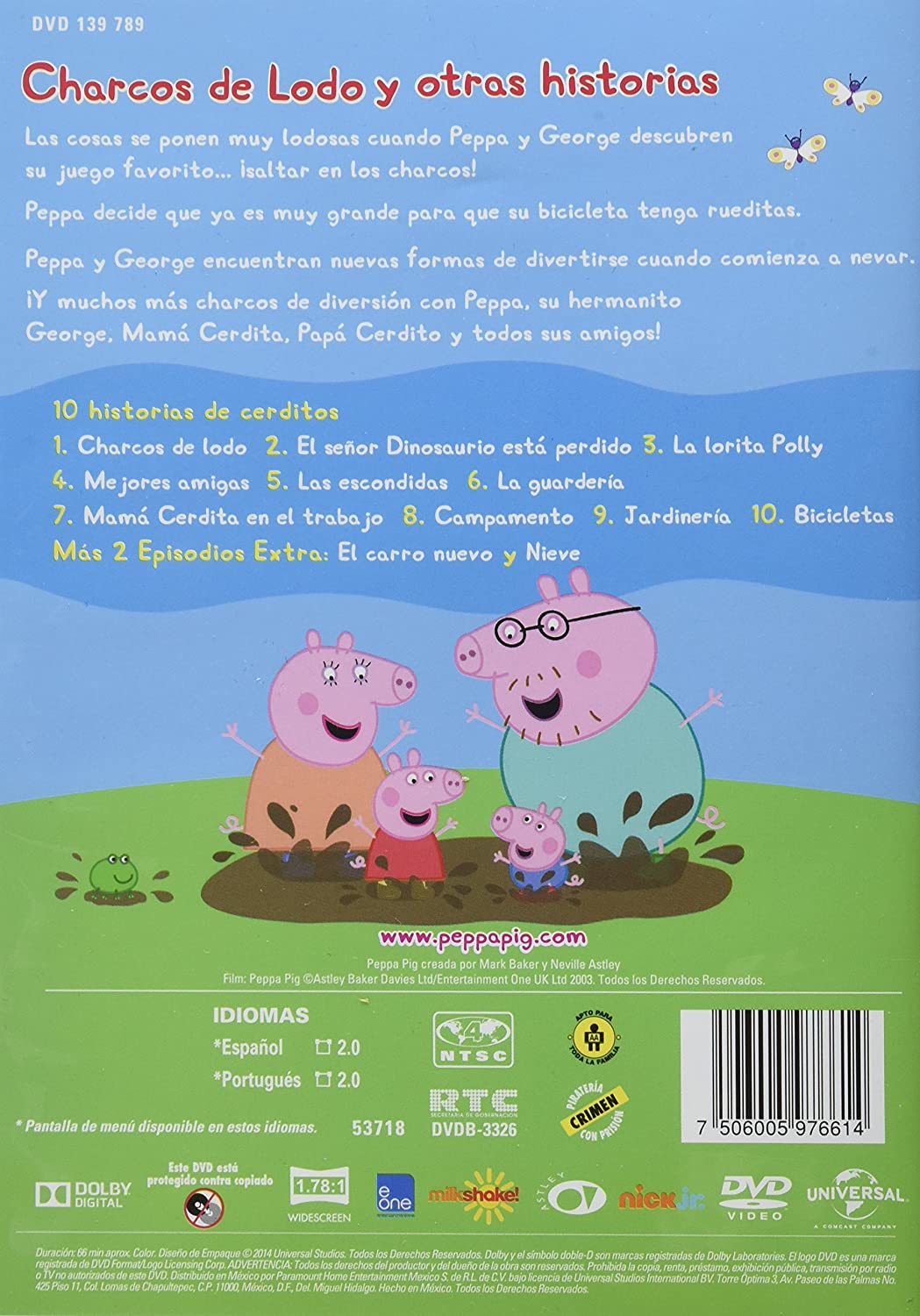 Amazon.com: Peppa Pig En Espanol Temporada 1 Volumen 1: Charcos De Lodo Region 4 DVD (Spanish and Portuguese Options): Movies & TV