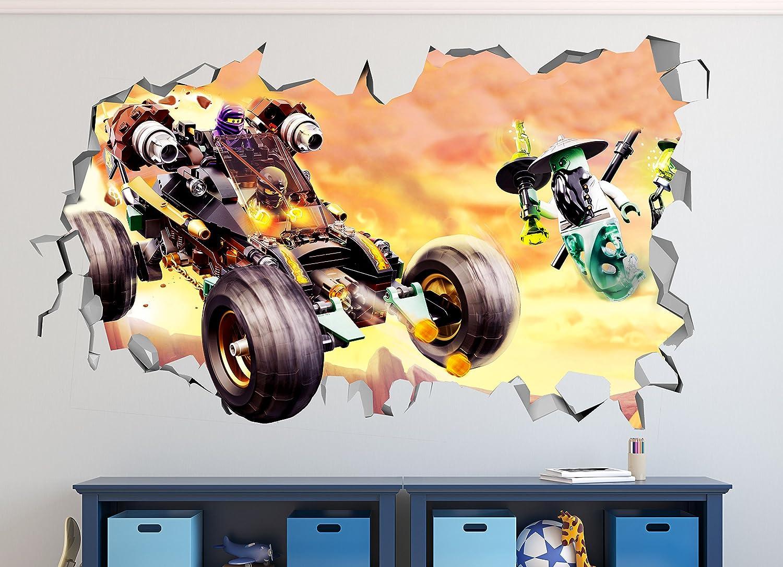 Amazon.com: Lego Ninjago Car Smashed 3D Wall Decal Mural Art Kids ...