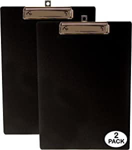"Primo Factotum - Standard Office Clipboards - Unbreakable - 9"" x 12"" - (2 Pack)"