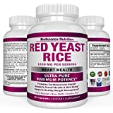 Red Yeast Rice Extract 1200 mg – CITRININ FREE Supplement – Vegetarian 120 Capsules - BioScience Nutrition