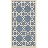 """Safavieh Courtyard Collection CY6032-243 Blue and Beige Indoor/ Outdoor Area Rug (2' x 3'7"""")"""