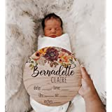 Laser Engraved Hospital Fully Engraved Birth Announcement Cutout Newborn Photography