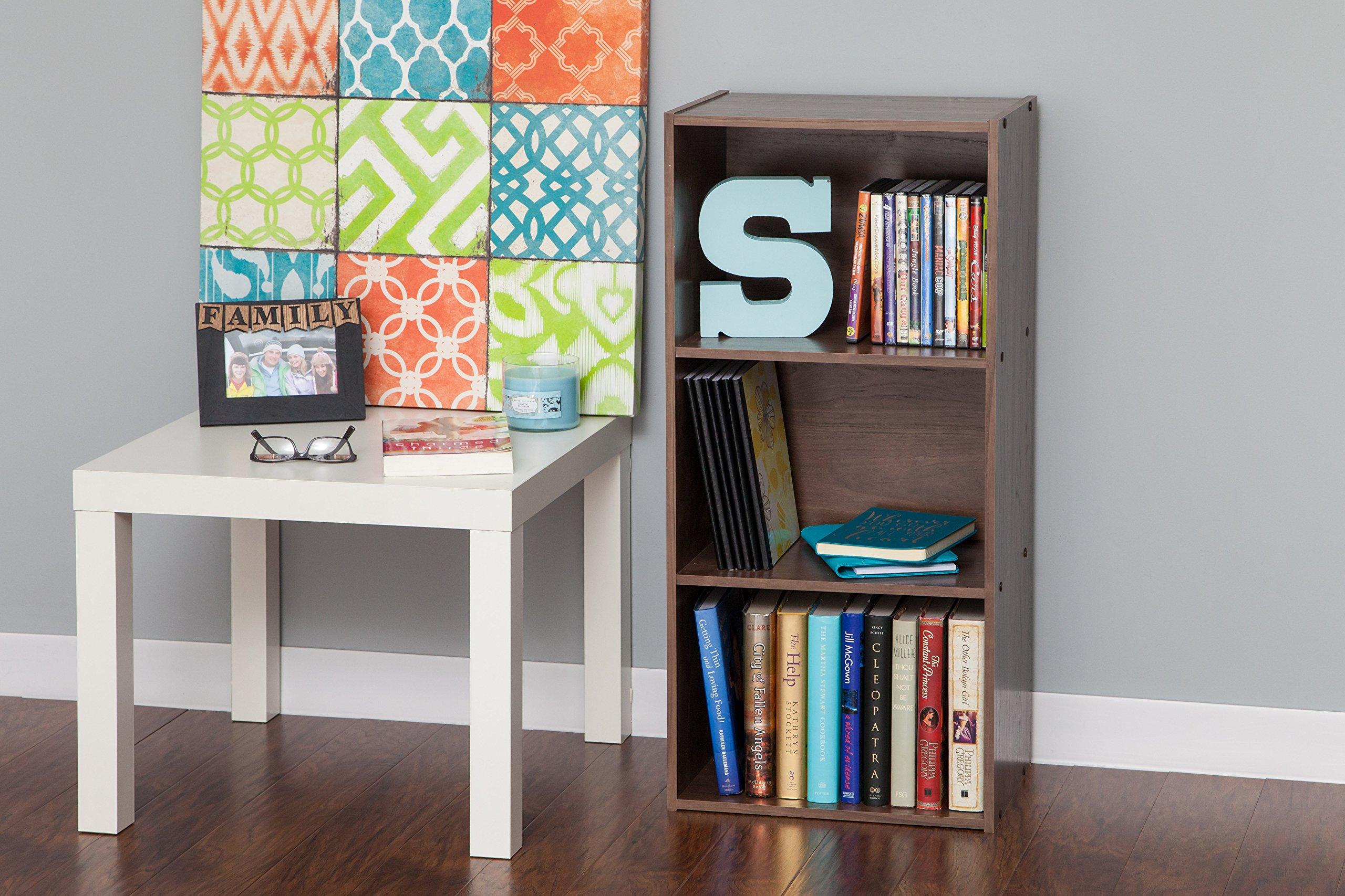 IRIS 3-Tier Basic Wood Bookcase Storage Shelf, Dark Brown by IRIS USA, Inc. (Image #6)