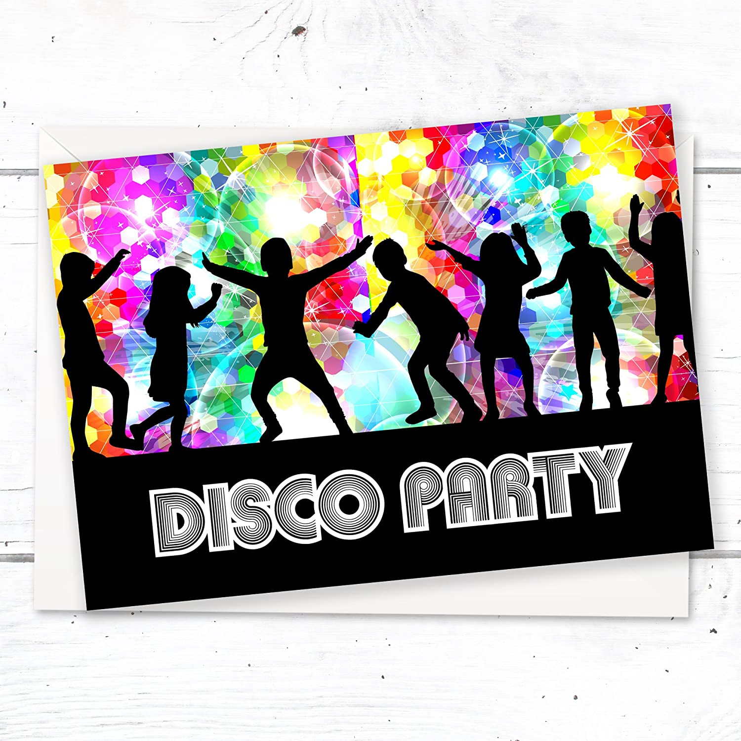 Kids Disco Party Invitations - Ready to Write - A6 Postcard Size ...