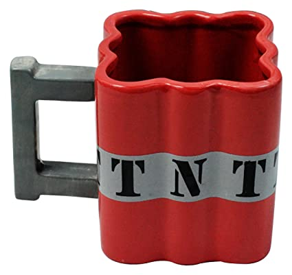 Fairly Odd Novelties FON-10238 Tnt Dynamite Shaped Ceramic Coffee Mug, Red