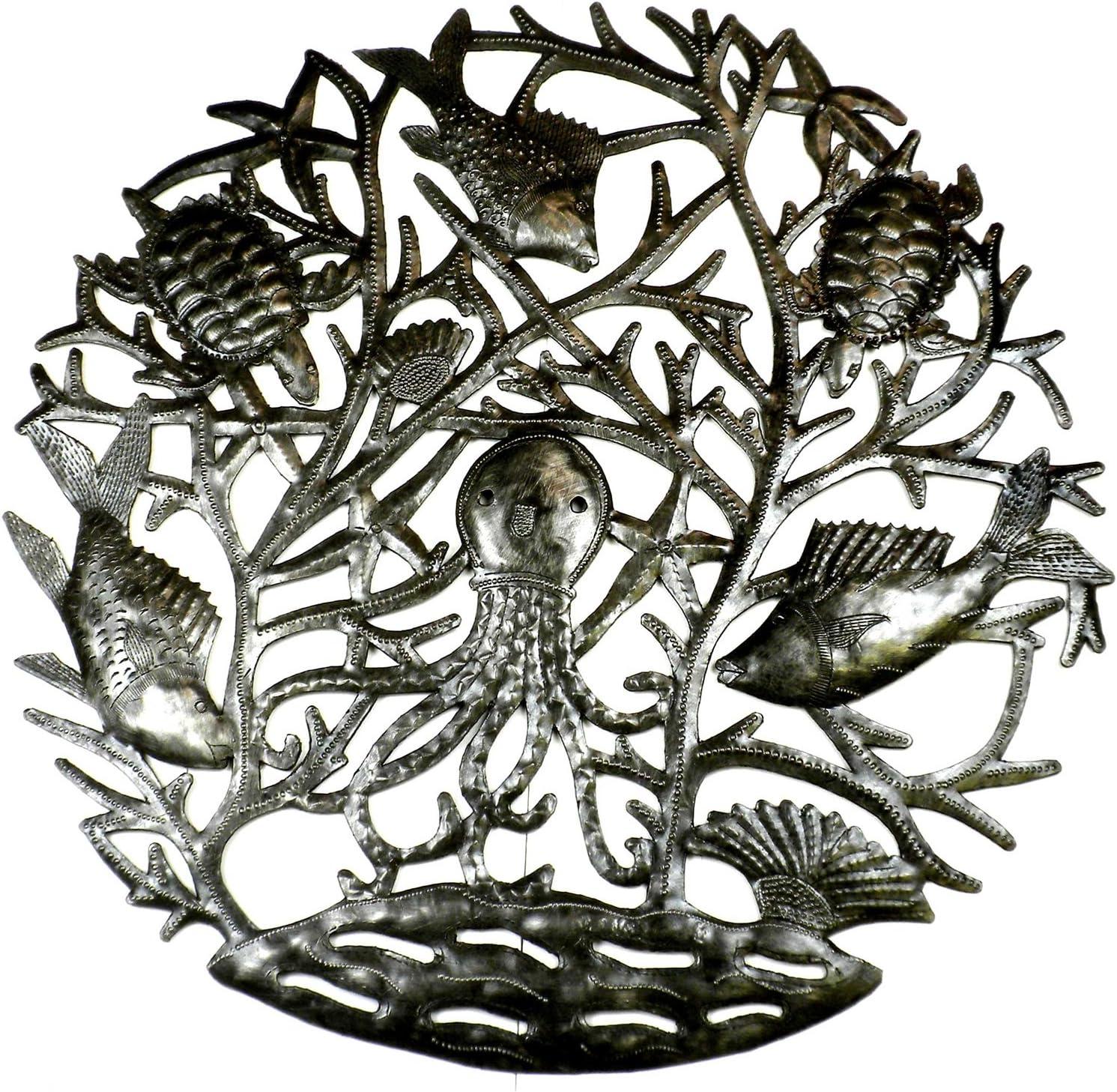 Haitian metal art cross--embossed oil drum