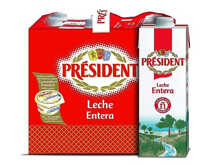 President Leche Entera 6x1L