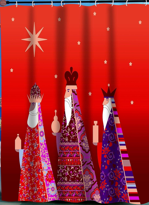 "Carnation Home Fashions ""Three Kings Fabric Shower Curtain"