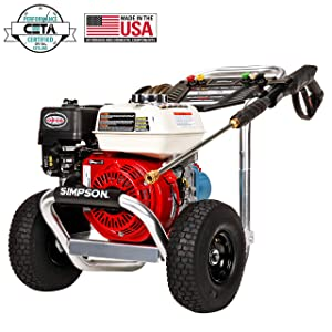 SIMPSON Cleaning ALH3228 Aluminum Gas Pressure Washer Powered by HONDA GX200 3400 PSI at 2.5 GPM