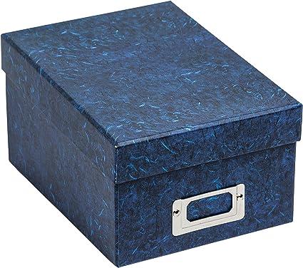 Photo Album Company Albox700blue - Caja para almacenar fotografías, rígida, color azul Capacidad para 700 fotografías de 10 x 15 cm.: Amazon.es: Oficina y papelería