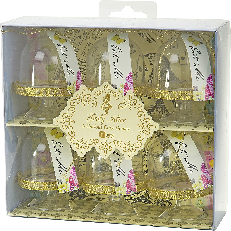 6 vraiment Alice au pays des merveilles Mini gâteau Dômes Tea Party Decor WT Personalised Tag