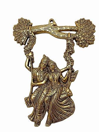 Buy Craftstm Metal Radha Krishna Jhula Idol Statue Wall Hanging For