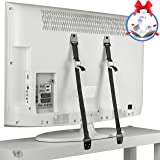 TV and Furniture Anti-Tip Straps - Multifunctional Anchors with All Metal Parts for Baby Safety - Adjustable Tethers for All Flat Screens - 2 Pack with Bonus Table Corner Guards