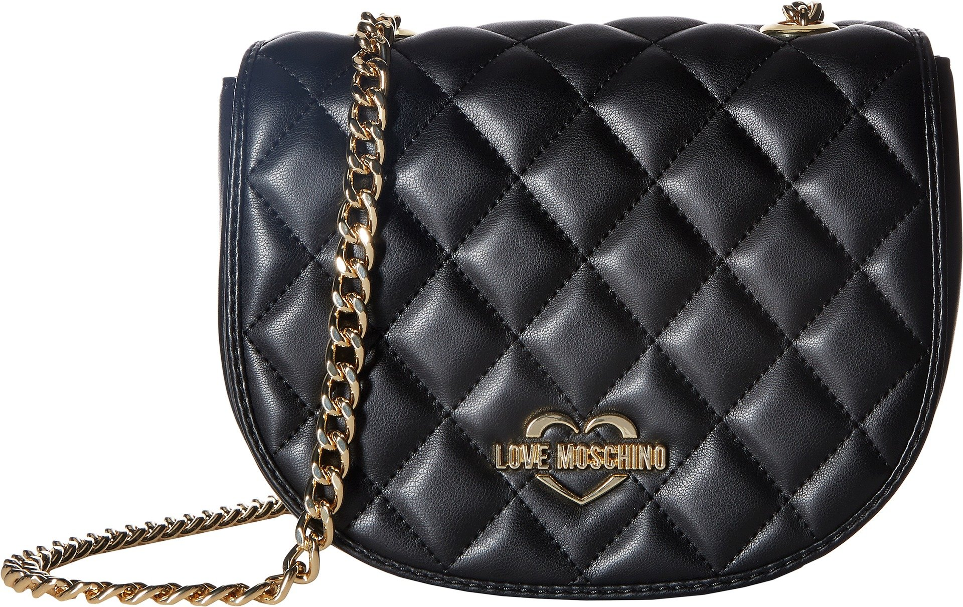 LOVE Moschino Women's Super Quilted Crossbody Black One Size