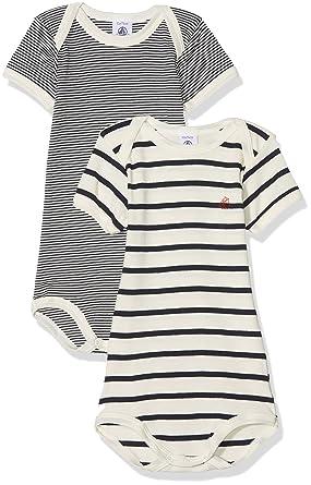 Petit Bateau Body Mixte bébé (Lot de 2)  Amazon.fr  Vêtements et accessoires 2b766632c6e