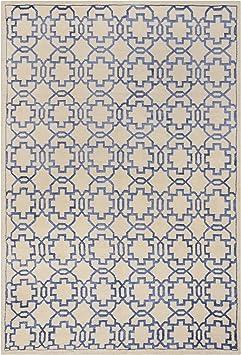 Amazon Com Safavieh Mosaic Collection Mos152a Hand Knotted Premium Wool Viscose Area Rug 4 X 6 Cream Purple Furniture Decor