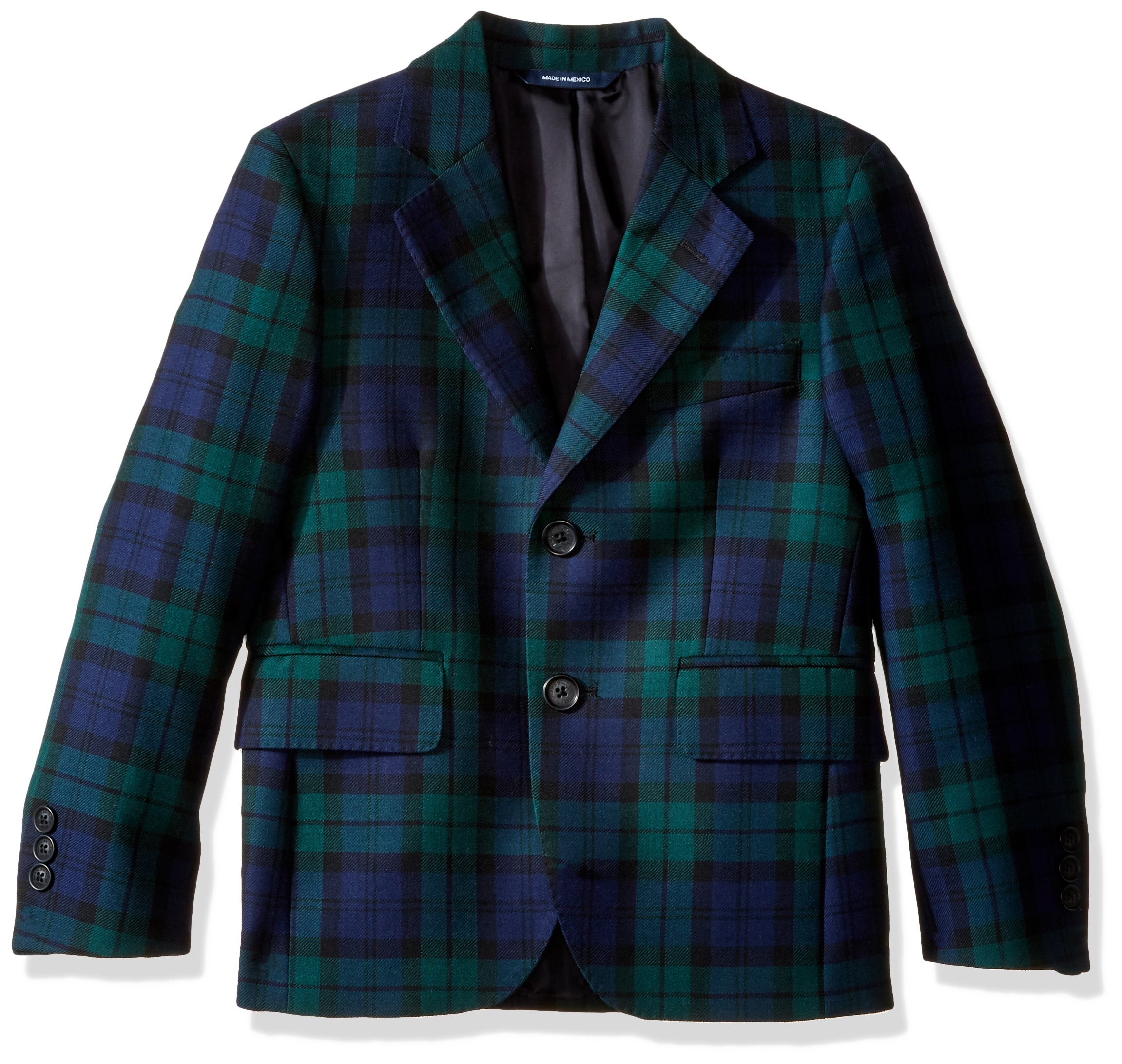 Brooks Brothers Big Boys' Blackwatch Suit Jacket, Blkwatch, 10