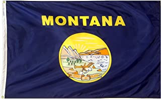 product image for Annin Flagmakers Model 143160 Montana State Flag 3x5 ft. Nylon SolarGuard Nyl-Glo 100% Made in USA to Official State Design Specifications.