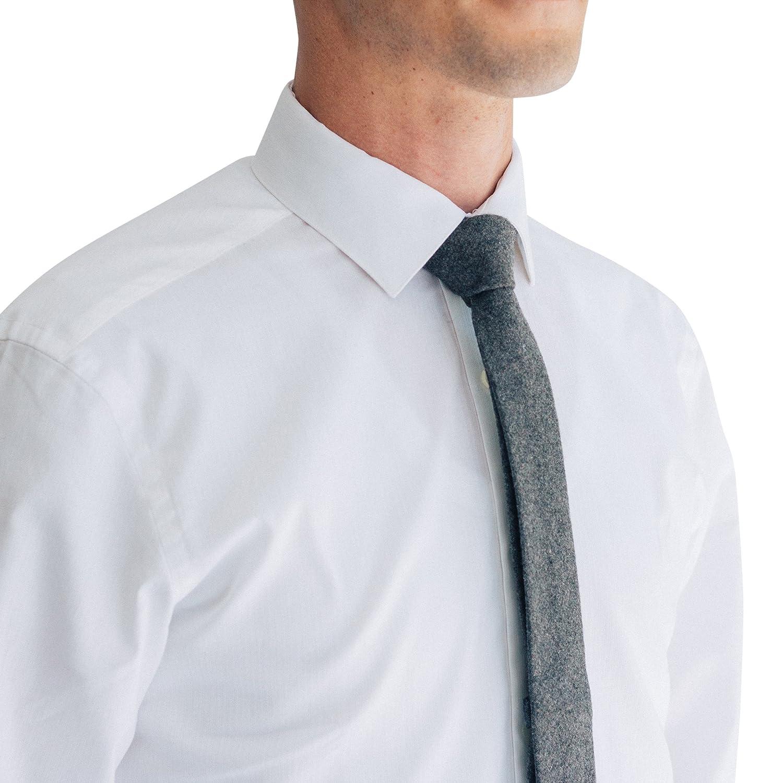 Mens Wool Skinny Tie Dark Gray 2 5 Cm At Amazon Mens Clothing