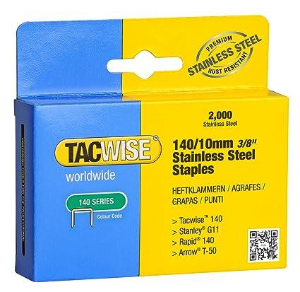 Tacwise 1217 Grapas de acero inoxidable de tipo 140/10 mm