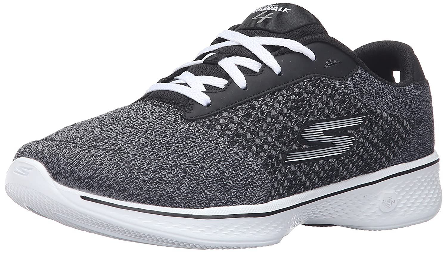 Skechers Performance Women's Go Walk 4 Exceed Lace-up Sneaker B01AH07T5Q 10 B(M) US|Black/White