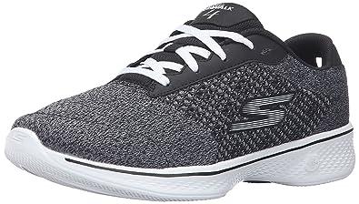 79cad7d081663 Skechers Performance Women's Go Walk 4 Exceed Walking Shoe, Black/White, ...