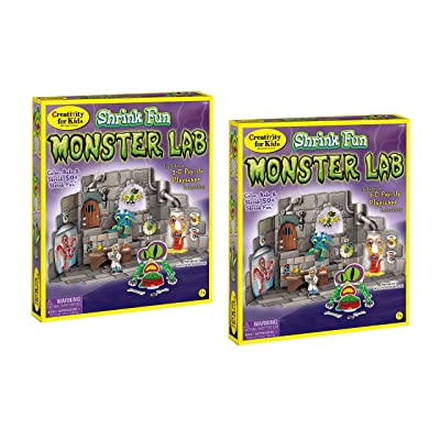 Faber Castell Creativity for Kids Shrink Fun Monster Lab - Bundle of 2: Toys & Games