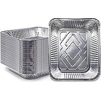 "(30 Pack) Premium Lasagna Pans 14"" x 10"" x 3"" Extra Heavy Duty l Disposable Aluminum Foil for Roasting Turkey, Baking…"