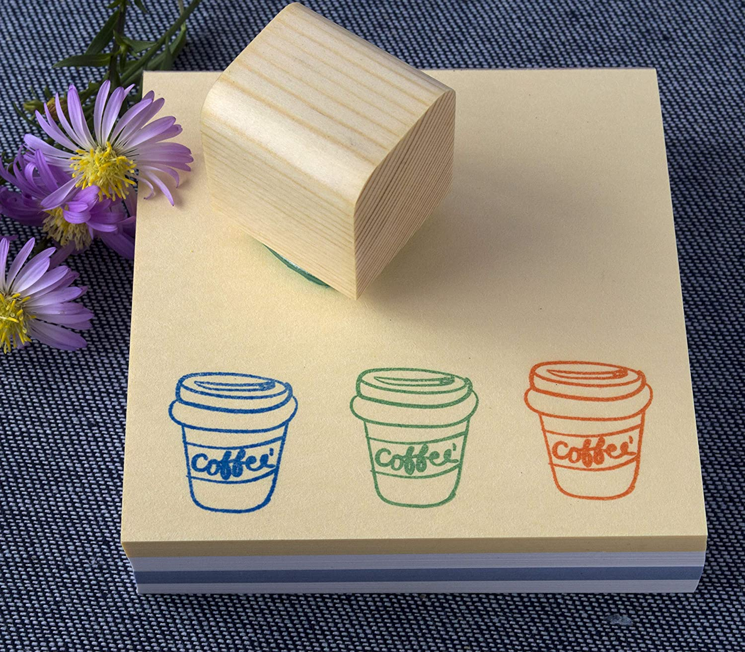 Paper-Crafting coffee cup Coffee icon Stamp 1x1 Mini Stamp Stamp Scrapbooking Card Making Logo stamp