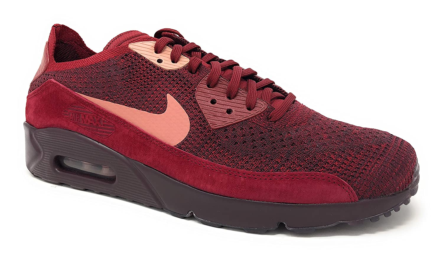 Nike Men's Air Max 90 Ultra 2.0 Flyknit Running Shoe (13 D(M) US, Team RedRust Pink)