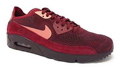 4a51b175bba572 NIKE Men s Air Max 90 Ultra 2.0 Flyknit Competition Running Shoes,  Multicolour (Team Red