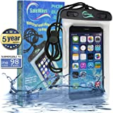Waterproof iPhone Case - Incredibly Easy To Seal Securely - Compatible With All iPhone Models (including iPhone 6 Plus), Samsung, HTC, Sony, Nokia - All Phones/Phablets/iPods/Cameras Up To 7