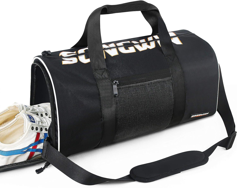 Songwin Bolsa Deporte Bolsa Gimnasio de Viaje Impermeable Bolsos Deportivos Fin de Semana Travel Duffle Bag para Hombre y Mujer
