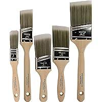 5-Pack Pro-Grade Home Wall Trim House Paint Brush Set