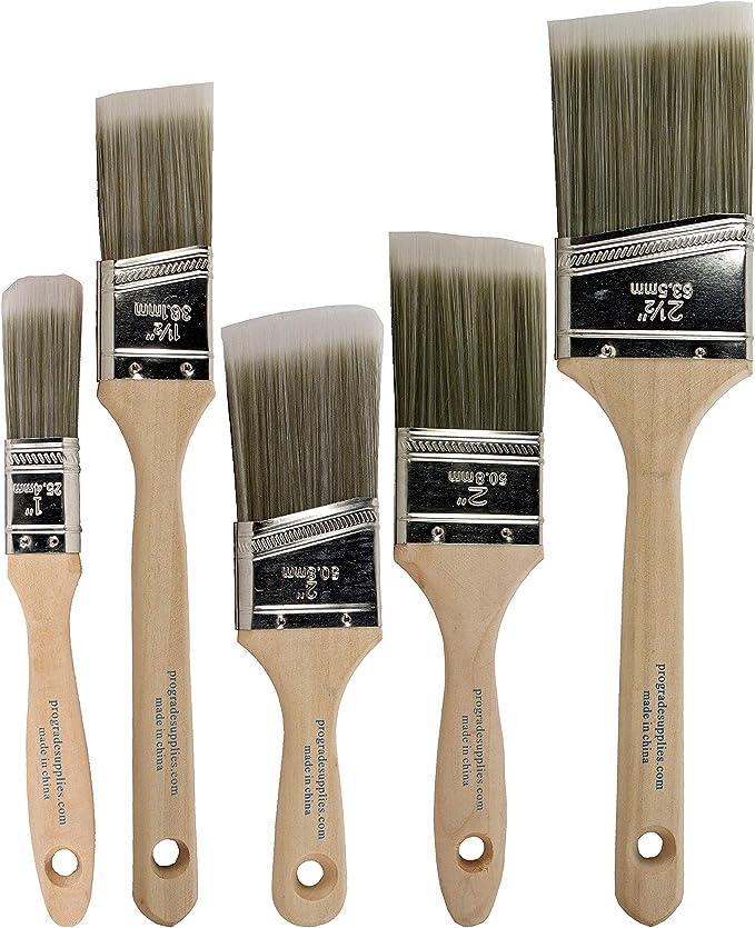 Pro Grade - Paint Brushes - 5 Ea - Paint Brush Set - - Amazon.com
