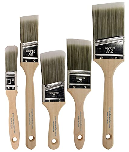Pro Grade Paint Brushes 5 Ea Paint Brush Set