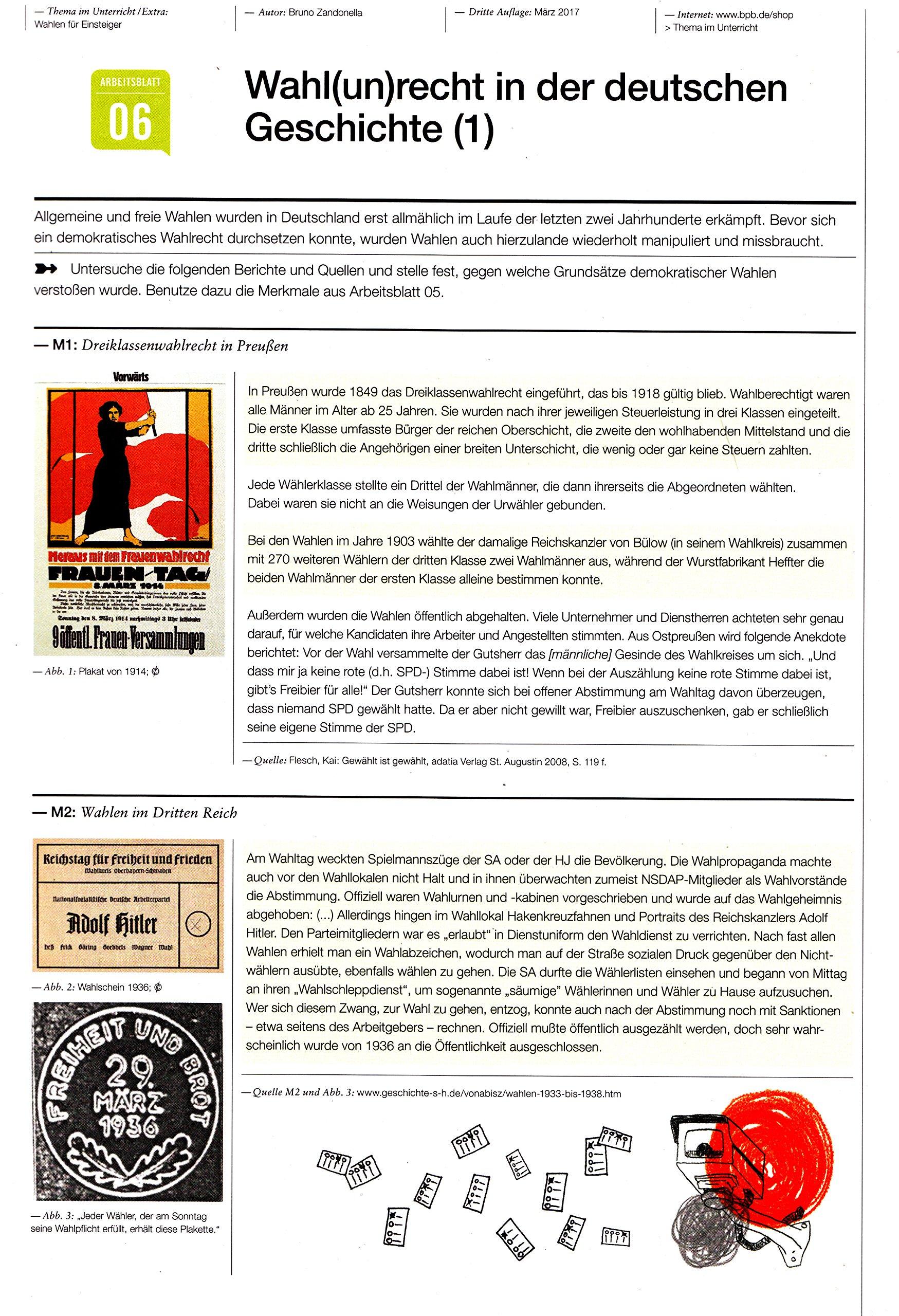 Wahlen für Einsteiger Thema im Unterricht/Extra Arbeitsmappe: Amazon ...