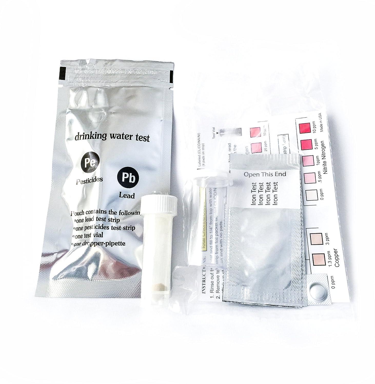 /10/minutos de prueba para plomo cobre y m/ás Kit de prueba de agua potable/ pesticidas bacterias hierro