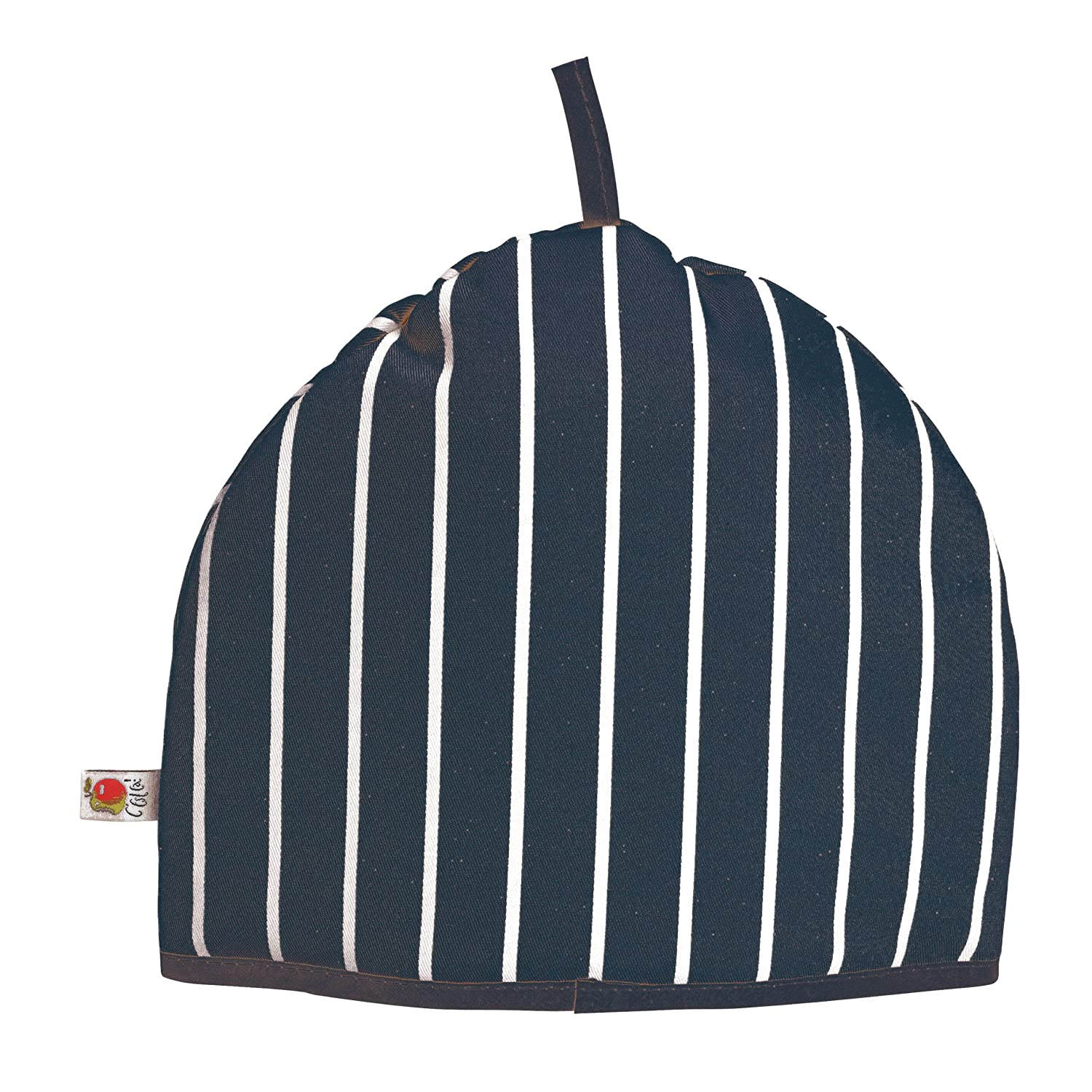 C'est Ca Butchers Stripe Tea Cosy, Navy and White Stripe C'est Ca Butchers Stripe 822037