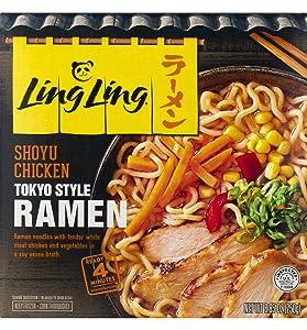 Ling Ling Ramen, Shoyu Chicken, 8.85 Ounce, Frozen