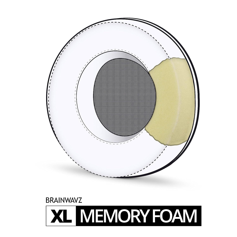 Fostex Brainwavz XL Grande Computer Memory Foam Earpads/ Hifiman AKG ATH /Adatto per Molti Altri Grande sopra l Orecchio Cuffie/ Sony Philips /Sennheiser