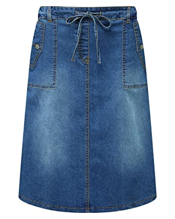 73c785aafa Cotton Traders Womens Ladies Pocket Detail Pull-on Skirt: Amazon.co.uk:  Clothing